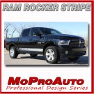 Dodge Ram Lower Rocker Panel Vinyl Graphics Decals / 2016 3M Pro Stripes T24