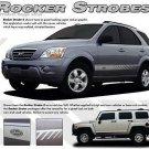 Lower Rocker Strobe Stripes Decal Graphics fits Ford Dodge Chevy Toyota Honda