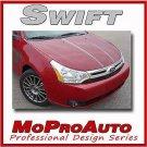 SWIFT Ford Focus Hood Graphics Decals Stripes Tat 2008 - Professional Vinyl 387