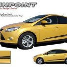 PinPoint Lower Side Rocker Panel Stripe Vinyl Graphic Decal 2012-2017 Ford Focus