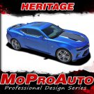 2017 Chevy Camaro HERITAGE 50th Anniversary Pace Car Stripes Vinyl Graphic Decal