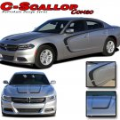 2015-2018 C-SCALLOP Dodge Charger Pro 3M Vinyl Graphics Hood Side Decals Stripes