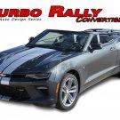 2016-2018 Chevy Camaro TURBO RALLY CONVERTIBLE Dual Racing Stripes Vinyl Graphic
