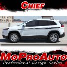 2014 2015 2016 2017 Jeep Cherokee CHIEF Decals Stripe Graphic 3M Pro Kit PDS2806