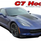 2014-2018 Corvette C7 HOOD Center Blackout Vinyl Graphic Decal 3M Pro Stripes