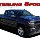 2016 2017 2018 Chevy Silverado Hood Spikes Spears 3M Vinyl Graphic Stripe Decal