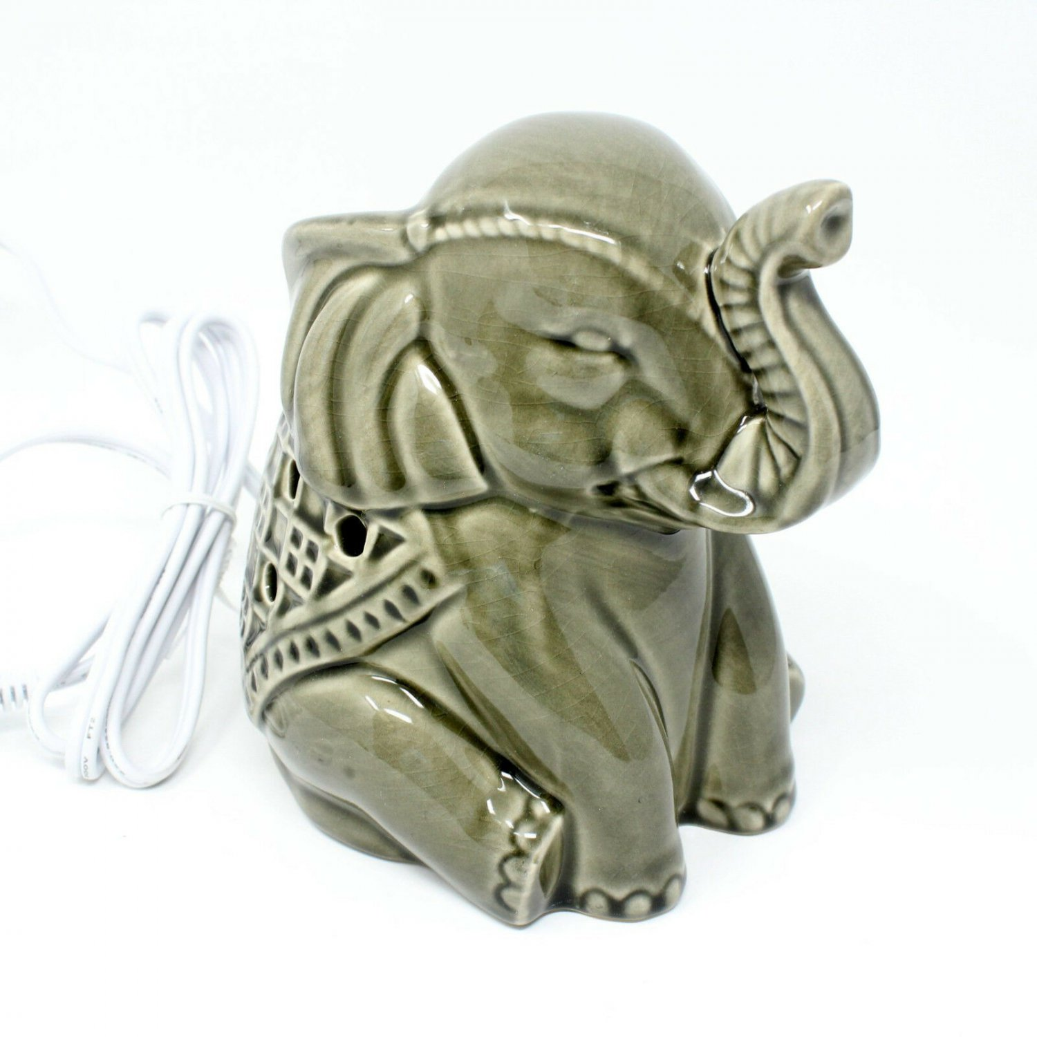 Electric Scented Wax Tart Warmer with Inverted Tray Elephant
