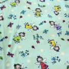 Light Blue Flannel Material Angels & Butterflies 45 inch wide 4.75 yd Continuous