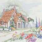 Dimensions Hollyhock Cottage Counted Cross Stitch Kit Vintage 1989 Barbara Mock