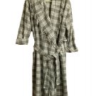 Victorias Secret Collection Vtg Hooded Fringe Robe ML Long Gray Plaid Wool Blend