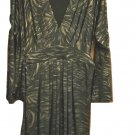 Black and Gold Knit Long Sleeve Dress Plus Size 1X