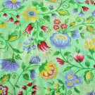 Mint Green Floral Print Material 45 inch wide 3 yds Continuous