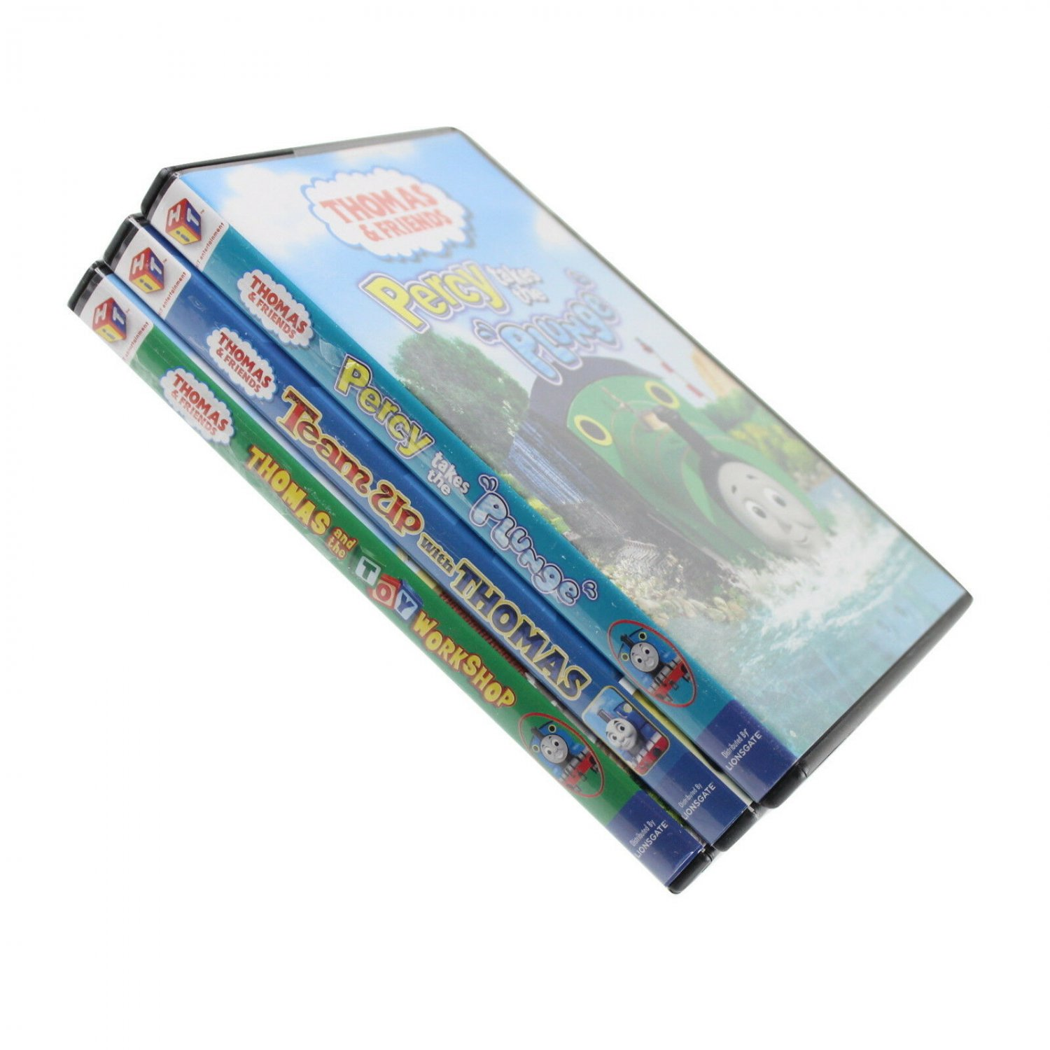 Lot 3 Thomas and Friends DVD Team Up with Thomas Toy Workshop Percy Takes Plunge