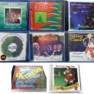 Lot of 8 Christmas and Holiday Music CDs Various Carols Instrumental Traditional