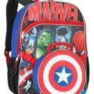 """Marvel Avengers 16"""" Full Size School Backpack w Detachable Captain Am Lunch Tote"""
