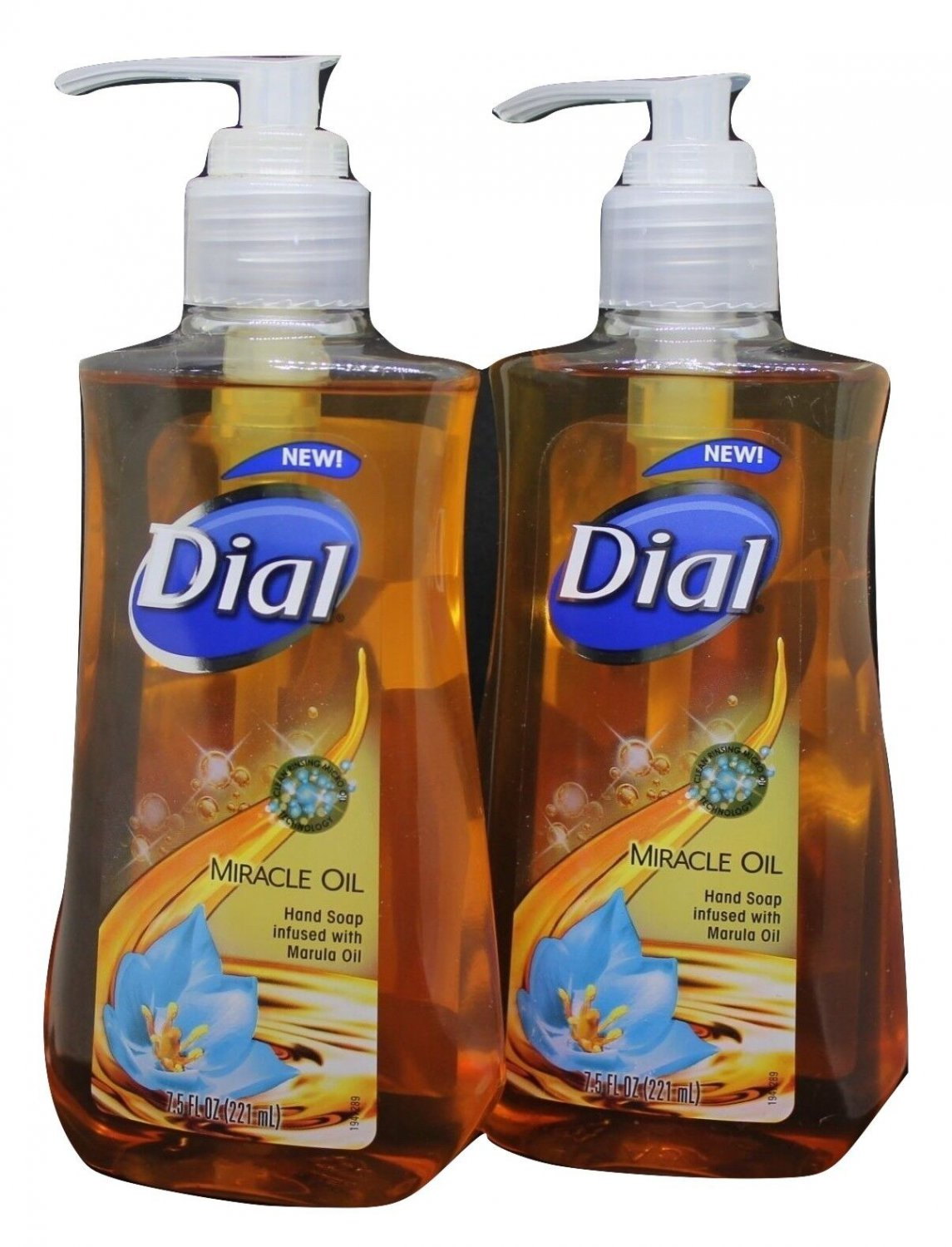Dial Liquid Hand Soap Miracle Oil 7.5 oz Infused with Marula Oil 2 Pack