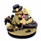 Fine Makers Ltd Love Bears Dream Together Say It With A Kiss LE Figurine
