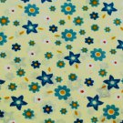 Small Floral Print Yellow Material 45 inch wide 3 yds Continuous