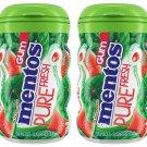 Mentos Pure Fresh Chewing Gum Sugar-free Watermelon Flavor 50 Pieces Xylitol 2pk