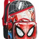 """Marvel Spider-Man 16"""" Full Size School Backpack with Detachable Lunch Tote"""