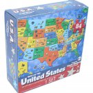 Map of the United States Puzzle 84 pcs 24 x 18 State-Shaped Puzzle Pieces Age 6+