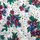 Pansy Floral Print Material 43 inch wide 4.5 yds Continuous