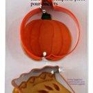Wilton 2-piece Metal Cookie Cutter Set Pie Slice Pumpkin Fall Holiday Halloween