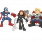 The Avengers Marvel Super Hero Squad 3pk Earth's Mightiest Heroes Action Figures