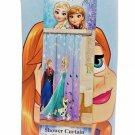 Disney Frozen Fabric Shower Curtain Elsa, Anna & Olaf 72 x 72