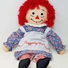 "Hasbro Applause 24"" Raggedy Ann Doll 2002 Cloth Sewn Stitched Face Button Eyes"