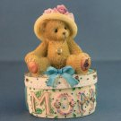 Cherished Teddies MOM Covered Box Maker of Miracles Jewelry Ring Box