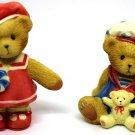 Cherished Teddies Paws for Patriotism Americana Bears Sailor Mini Figurines Avon