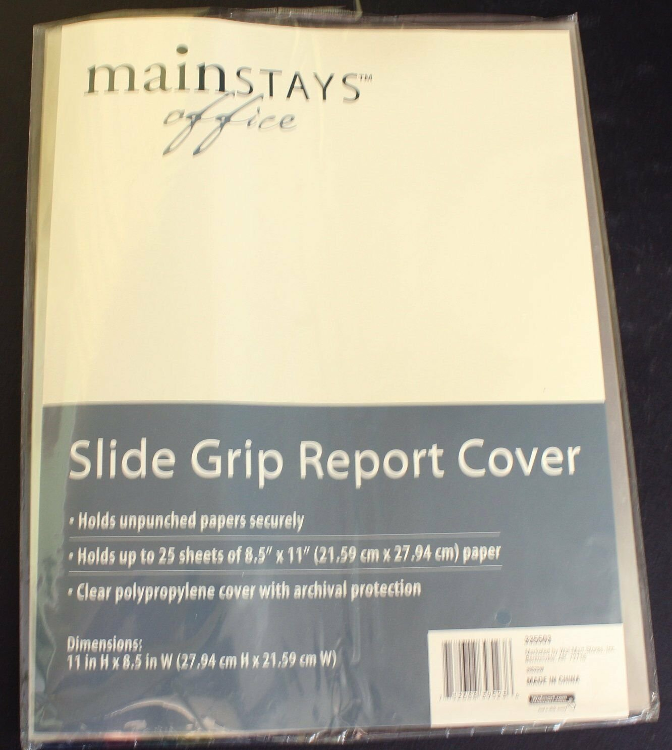 Slide Grip Punchless Report Cover 6 pack Clear Cover Mixed Color Slides 8.5 x 11