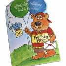 Gallant Birthday Greeting Card w Envelope Bear Balloons Recycled