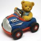Cherished Teddies Ken You Make My Heart Race Teddies in Motion Blue Hot Rod Car