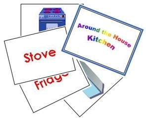 Around the house - Kitchen Flash Cards 1