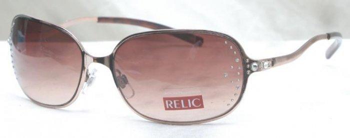 New Relic Fossil Rhinestone Morella Sunglasses with Bronze Metal
