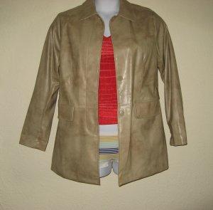 WET SEAL Womens Tan Jacket Spring Coat M/L Vegan Vinyl
