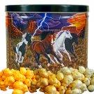 Popcorn Gift Tin - 2 gal (Wild Horses)