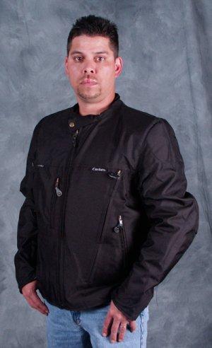 Mens Reversible Leather Motorcycle Jacket
