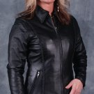 Ladies Leather Biker Jacket