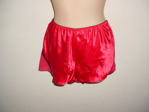 NEW RED SATIN BURLESQUE STYLE PANTIES  LARGE