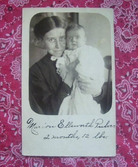 SALE** Vintage Photographic Postcard- Birth Announcement