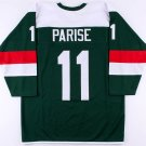 Zach Parise Unsigned Wild On-Ice Style Custom Stitched Jersey (Size XL)