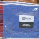 New . Kaleidoscope Sharp Blue Bedskirt . Queen