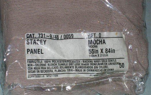 "Stacey Sheer Panel in Mocha 55"" x 84"""