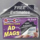 MagnaCard '' Advertising Magnets, 50 Pack (AM53)