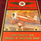 "1930 Travel Air Model R ""Mystery Ship"" Die Cast Model/Coin Bank"