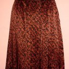 Lined silk skirt Doncaster size 12 Animal print. Pleat