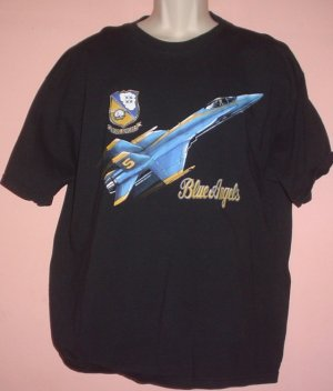 Tee shirt Blue Angels airplane XL